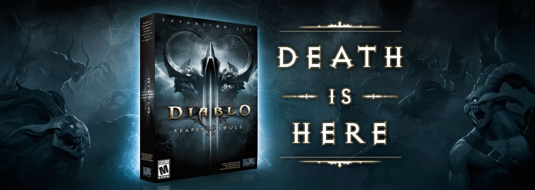 Time to Face Death Diablo 3 Gold Hunter – Reaper of Souls Now Live!